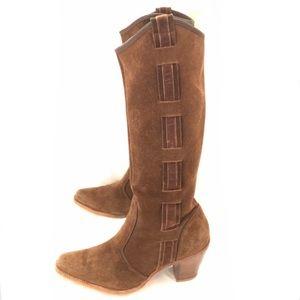 EUC Via Spiga 'Barr' Tall Suede Urban Cowgirl Boot